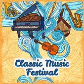 Music festival poster — Stock Vector