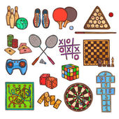 Game sketch icons — Stock Vector