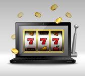 Online gambling concept — Stock Vector