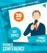 Public speaking poster — Stock Vector
