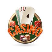 Pocker casino emblem — Stock Vector