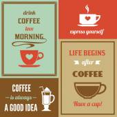 Coffee mini poster set — Stock Vector