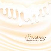Milk splashes background — Stock Vector
