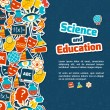Education science background — Wektor stockowy  #55725317