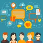 Social media concept — Stock Vector #55785747