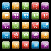 Shopping cart buttons set — Vetorial Stock