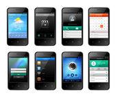 Mobile ui design — Stock Vector