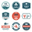 Seafood label set — Stock Vector #56007067