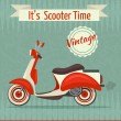 Scooter retro poster — Stock Vector #56007233