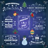 Christmas typographic labels set — Stock Vector