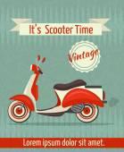 Scooter retro poster — Stockvector