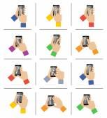 Smartphone touch gestures — Stock Vector