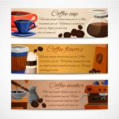 Coffee banners set — Stock Vector
