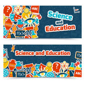 Education science banners — Stock Vector