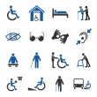 Disabled icons set — Stock Vector #56059043