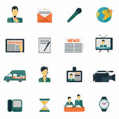 News icons flat — Stock Vector