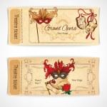 Theatre sketch tickets — Stock Vector #56070265
