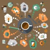 Coffee creative concept — Stock Vector