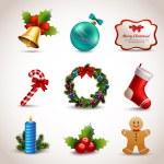 Christmas icons set — Stock Vector #56164727