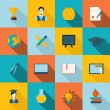 Education icons flat — Stock Vector #56168611
