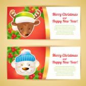 Christmas banner horizontal — Stock Vector