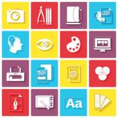 Graphic design icons — Stock Vector