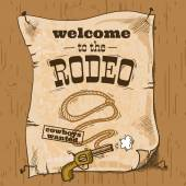 Rodeo retro poster — Stock Vector