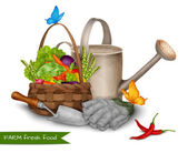 Farm fresh food concept — Stock Vector