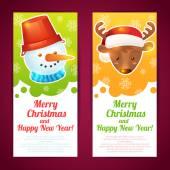 Christmas banner vertical — Stock Vector