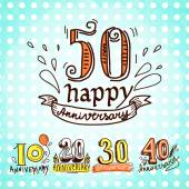 Anniversary signs set — Vetorial Stock