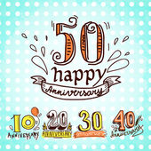 Anniversary signs set — Stockvector