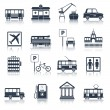 City infrastructure icons black — Stock Vector #56628423
