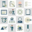 Time management icons set — Stock Vector #56628599