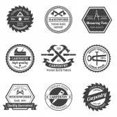 Carpentry emblems set — Stock Vector