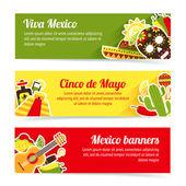 Mexico banner set — Stock Vector
