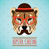 Animal hipster portrait — Vecteur