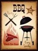 Bbq menu poster — Stock Vector