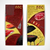 Bbq banners set — Stock Vector