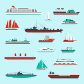 Ships and boats set — Stock Vector