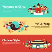 China banner set — Stockvector