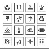 Handling and packing symbols — Stockvector