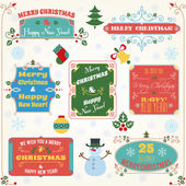Christmas labels colored set — Stockvector