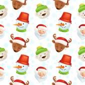 Christmas characters seamless pattern — Stockvektor