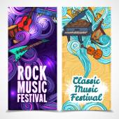 Music vertical banners — Stockvector