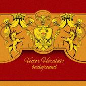 Heraldic colored background — Wektor stockowy