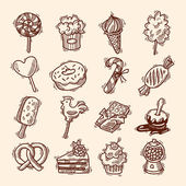 Sweets sketch icon set — Vetorial Stock