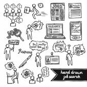 Job interview sketch set — Vector de stock