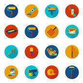 Painting icons colored — Stock Vector