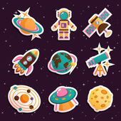 Space stickers set — Vettoriale Stock