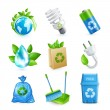 Ecology and waste icon set — Stock Vector #56822813